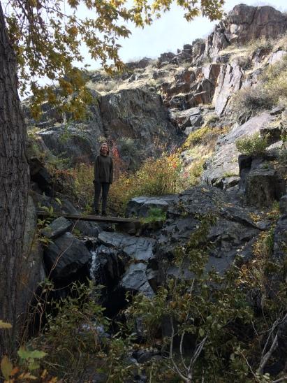 Hannah on mountain